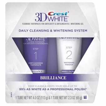 ยาสีฟัน CREST 3D WHITE BRILLIANCE 2 STEP TOOTHPASTE 113 g & 65 g