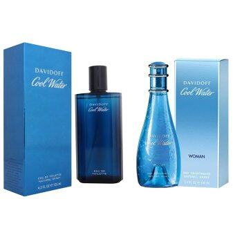 Davidoff Cool Water For Men EDT 125ml. + Davidoff Cool Water Forwomen EDT 100ml.