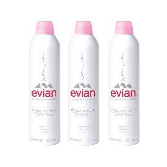 Evian สเปรย์น้ำแร่เอเวียง Evian facial spray ขวดใหญ่ 300 ml. (3 ขวด)