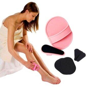 Facial Arms Body Skin Hair Removal Exfoliator Pad Sets EpilatorSkin Smooth - intl