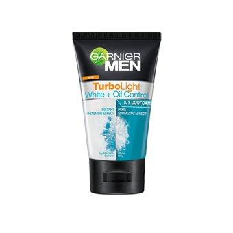 GARNIER Men Turbolight White + Oil Control Icy Duo Foam 100ml