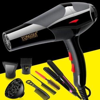 จัดโปรโมชั่น Hairdryer mute hair dryer dormitory home hot and cold hair salon 3000 Watt Power barber shop student - net2400 professional wind buy a send six plus hair straightener - intl