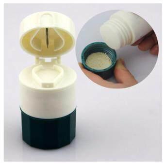 HP5008 ตลับใส่ยาพร้อมที่ตัด และบดเม็ดยา(สีเขียว)
