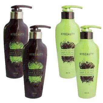 Hybeauty Vitalizing Hair & Scalp Shampoo 300ml. 2 ขวด + Hybeauty Conditioner 300ml. 2 ขวด