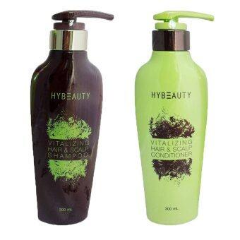 Hybeauty Vitalizing Hair & Scalp Shampoo 300ml. + Hybeauty Conditioner 300ml.(แชมพู1+ครีมนวด1)