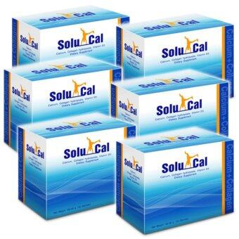 Harga Solucal โซลูแคล Calcium Collagen VitaminD3 30 Sachets x 6 Box
