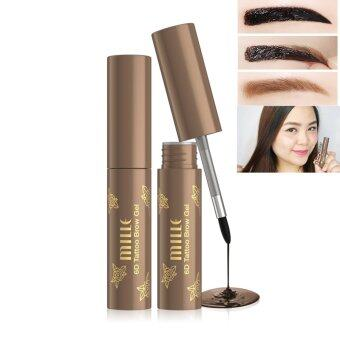 Harga Mille 6D TATTOO BROW GEL WATERPROOF เจลสักคิ้ว 6 มิติ #Deep Brown (3.5g.) (Deep Brown)