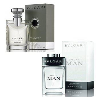 Harga Bvlgari MAN Pour Homme Extreme For men. 100ml.+Bvlgari Man EDT 100ml. (พร้อมกล่อง)
