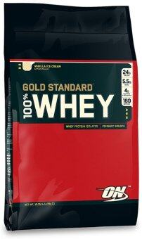 Harga OPTIMUM Whey Protein Gold 10 Lbs. - Vanilla ice cream