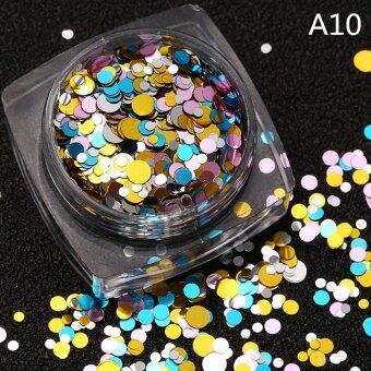 Harga 1 Pcs DIY Beauty Nail Tip Craft Decorations Thin Nail Sequins Paillette Glitter Cosmetic Fashion Nail Polish Stickers A10 - intl