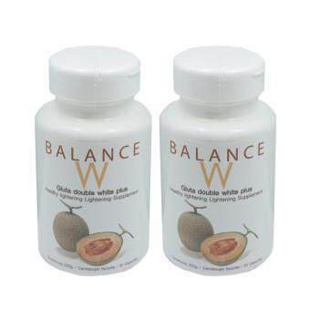Harga BALANCE W Gluta Double White Plus 30 แคปซูล (2 กระปุก )
