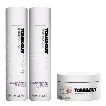 Harga Set Toni&Guy Shampoo + Conditioner Fine Hair + Reconstruction Mask