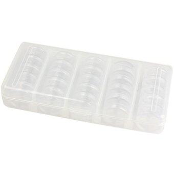 Harga Nail Art Tip Sequin Drill Storage Box Case Organizer Empty 25 Compartments (Intl)