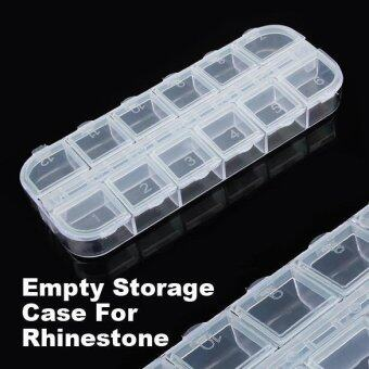 Harga Empty Nail Art Divided Plastic Boxes Case Storage - intl