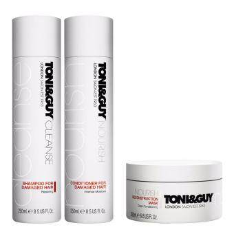 Harga Set Toni&Guy Shampoo+Conditioner Damaged Hair + Reconstruction Mask