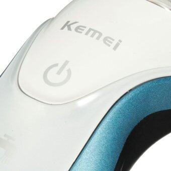 Kemei KM-7000 เครื่องโกนหนวด 3D ใบมีดอัลลออย์คู่ 3 หัวโกน 3 in 1 - 5