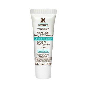 KIEHL'S Ultra Light Daily UV Defense Mineral Sunscreen SPF50 PA+++ ครีมกันแดด สำหรับผิวบอบบางและเป็นสิวง่าย ไม่ทิ้งคราบขาว ไม่อุดตันรูขุมขน 5ml (1 หลอด)