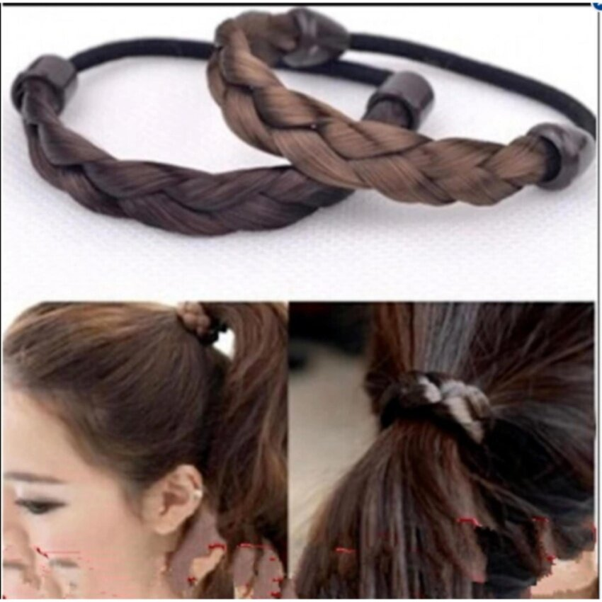 Korean version of the simple fashion wig hair band hair braids stretch hair band   ซื้อ 1 แถม 1