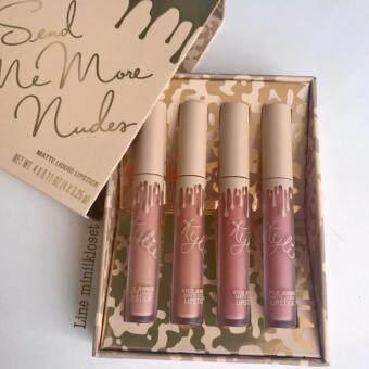 รีวิวพันทิป KYLIE Send Me More Nudes Matte Liquid Lipstick 4pcs.( 1 กล่อง)