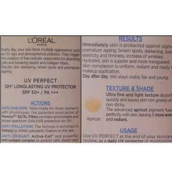 L'Oreal UV Perfect Advanced 12H UV Protector Even Complexion SPF 50+/PA+++ 15ml. ลอรีอัล ยูวี เพอร์เฟคท์ แอดวานซ์ 12 ชม.ครีมกันแดด - 4