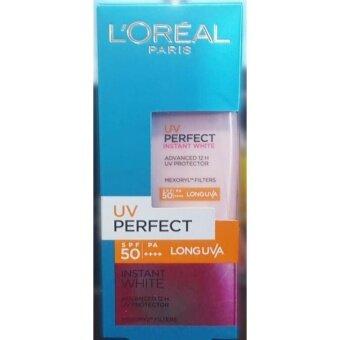 L'Oreal UV Perfect Advanced 12H UV Protector Instant White SPF 50+/PA+++ 15 ml ลอรีอัล ยูวี เพอร์เฟคท์ อินสแตนท์ ไวท์ 12ชม.ครีมกันแดด