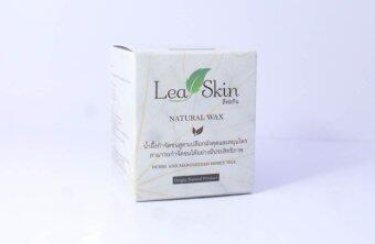 LEAF SKIN natural wax ครีมแว๊กซ์น้ำผึ้งกำจัดขนจากเปลือกมังคุดและสมุนไพร 145 ml