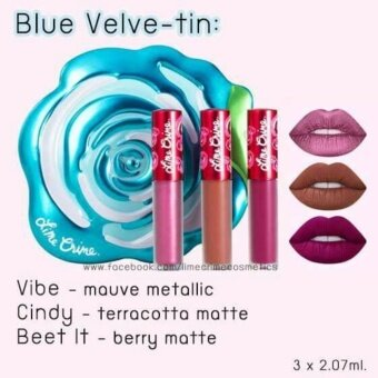 ลิปลามคาม LimeCrime Velve-Tin Mini Velvetines Boxed Set กล่องสีฟ้า(Holiday Edition) #Blue Velve-tin