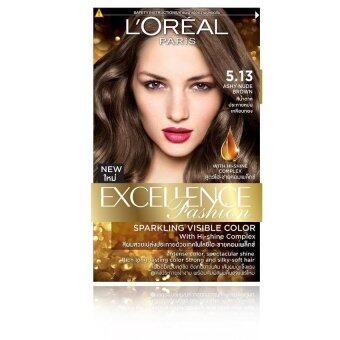L'Oreal เอ็กซ์เซลเล้นซ์ ครีมเปลี่ยนสีผม #5.13 -สีน้ำตาลประกายหม่นเหลือบทอง