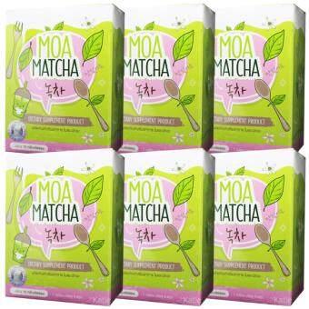 MOA MATCHA โมเอะ มัทฉะ ผลิตภัณฑ์เสริมอาหาร ชงผอมโมเอะ ขนาด 5 ซอง (6กล่อง)