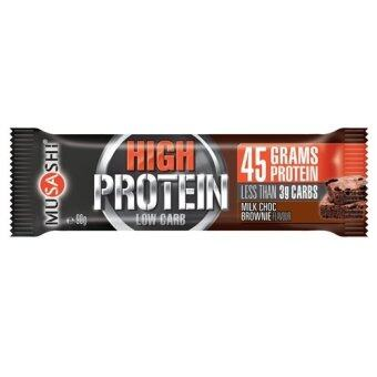 Musashi P45 Milk Choc Brownie Bar (Box of 12)