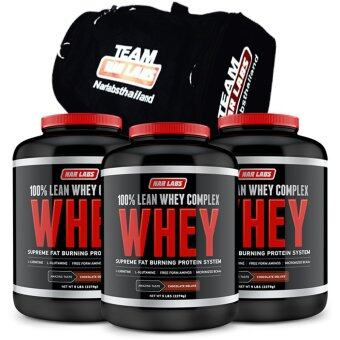 Narlabs LEAN WHEY 5 LBS CHOCOLATE x 3 + Narlabs GYM BAG