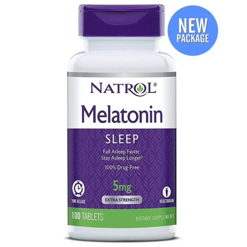 ขายดี Natrol Melatonin Time Release 5 mg.100 เม็ด สินค้ายอดนิยม