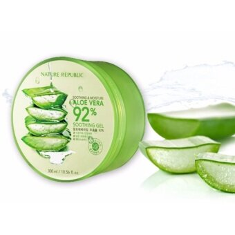 NATURE REPUBLIC Soothing and Moisture Aloe Vera 92% Soothing Gel 300ml. เจลว่านหางจระเข้