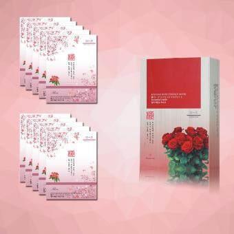 มาร์คหน้าสารสกัดจากดอกกุหลาบ 10 แผ่น Kiwami Rose Essence MaskSheet