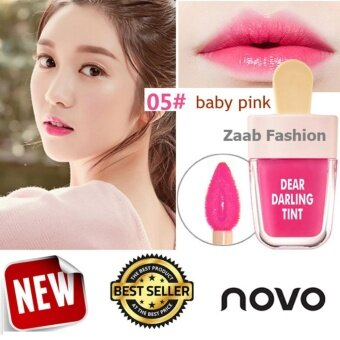 novo Lip Tint ของแท้ 100% (Zaab Fashion) DEAR DARING TINT โนโว ลิปไอติม ทินท์ไอติม โทนสีสวยแซ่บ มีมอยเจอไรเซอร์ บำรุงริมฝีปาก ทาง่าย กันน้ำ ติดทนนาน สีสวยสดใส