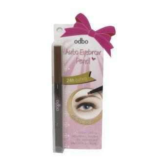 ขอเสนอ Odbo Auto Eyebrow Pencil 1.8g. ดินสอเขียนคิ้ว เนื้อครีม เขียนง่ายกันน้ำ พร้อมแปรงปัด (สี V.12 Brown)