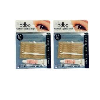 แพ็คคู่ Odbo Double Eyelids Tape โอดีบีโอ ดับเบิล อายลิด เทปเซตตาข่ายสำหรับตาสองชั้น พร้อมที่คีบ 49 คู่ (Size M)