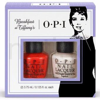 ขายด่วน OPI เซทยาทาเล็บ BREAKFAST AT TIFFANY'S Party Petites Mini Nail Polish Duo