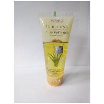 Patanjali Saundarya Aloe Vera Gel Kesar Chandan เจลว่านหางจรเข้อินเดีย 60 ml.