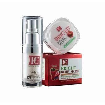 Pcare skincare Set ผิวขาวใส Whitening & Anti-melasma (Pcare Skin Care White Booster Mask + Bright Berry Secret)