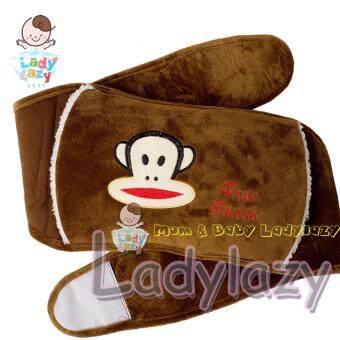 กระเป๋าน้ำร้อนไฟฟ้า แบบคาดเอว ลายลิงน้อย สีน้ำตาล