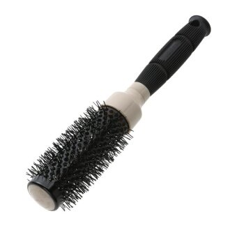 ขอเสนอ Professional Curly Hair Comb Brush Air Heat Lead Ceramic StylingTools(Black)-32号 - intl