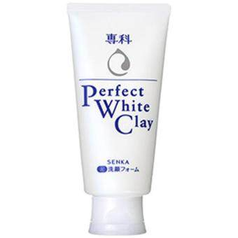 รีวิวพันทิป โฟมล้างหน้า SENKA Perfect White Clay 120g. ขจัดเซลล์ผิวเสื่อมสภาพ (หลอดสีขาว)