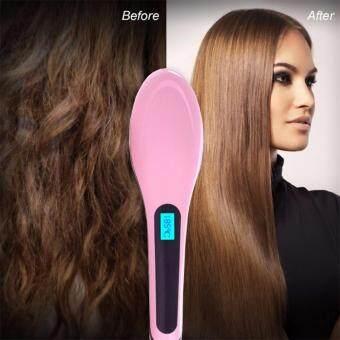จัดโปรโมชั่น Sinlin แปรงหวีไฟฟ้าผมตรง Fast Hair Straightener รุ่น HQT-906 (Pink)