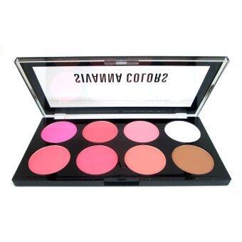 Sivanna Colors พาเลท บลัชออน 8 สี พร้อมไฮไลท์และเฉดดิ้ง Ultra Blush Palette (#No.02) ...