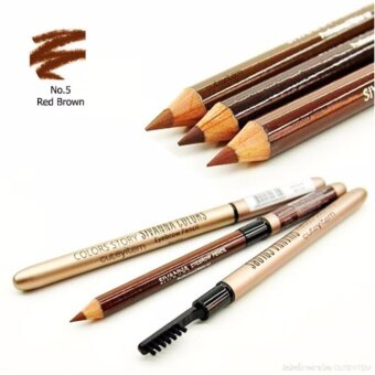 Sivanna Colors Story Waterproof Silky Eyebrow Pencil ดินสอเขียนคิ้ว ที่เขียนคิ้ว ดินสอเขียนคิ้วกันน้ำ ติดทน (เบอร์ 5 Red Brown)