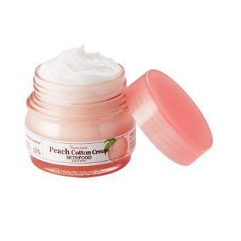 Skinfood Premium Peach Cotton Cream 63 ml ครีมบำรุงผิวสารบำรุงจาก Peach Extract ช่วยควบคุมความมันบนใบหน้า