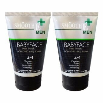 Harga Smooth E Men Baby Face Foam 75 กรัม (2 หลอด)