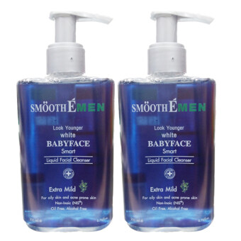 Harga Smooth E Men Liquid Facial Cleanser 200ml. (2 ขวด)