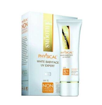 Harga SMOOTH E Physical White Babyface UV Expert สีเบจ 15 กรัม